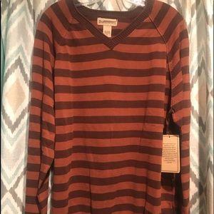 Ruff Hewn Brand New Mens Striped Shirt. Browns XL